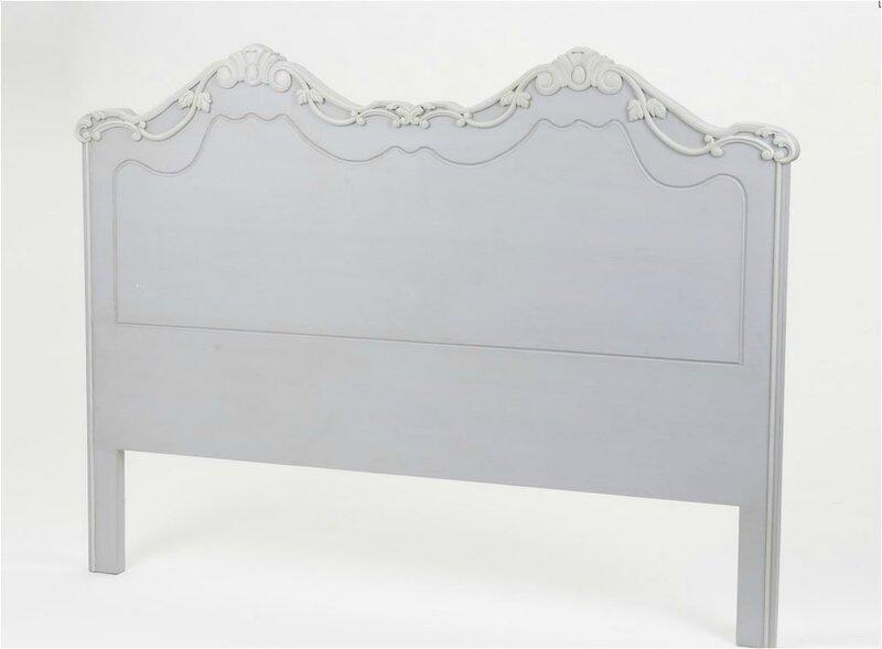 tete de lit grise romantique 160 cm