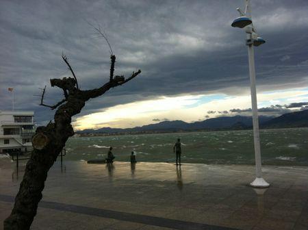 baie de Santander un jour de tempête