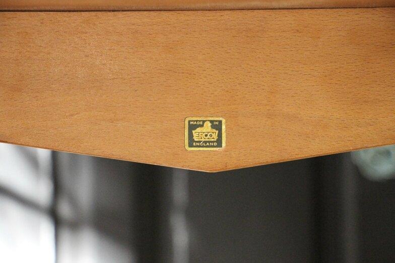 table-ercol-vintage-estampille