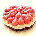 Tarte aux fraises sans cuisson au basilic