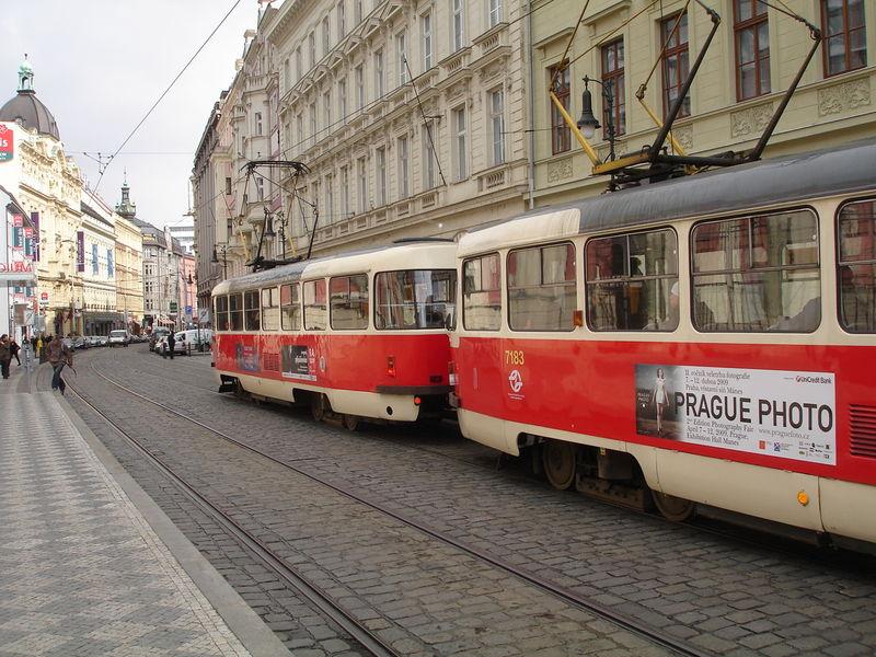 Tramways 1ère époque. En direction du centre-ville