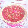 Tarte aux pralines roses