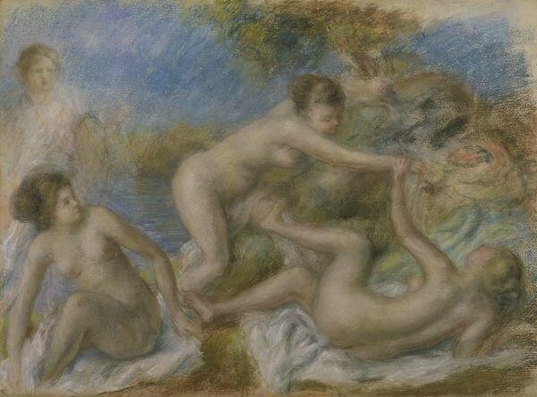 Pierre Auguste Renoir, les baigneuses au crabe1897 1900