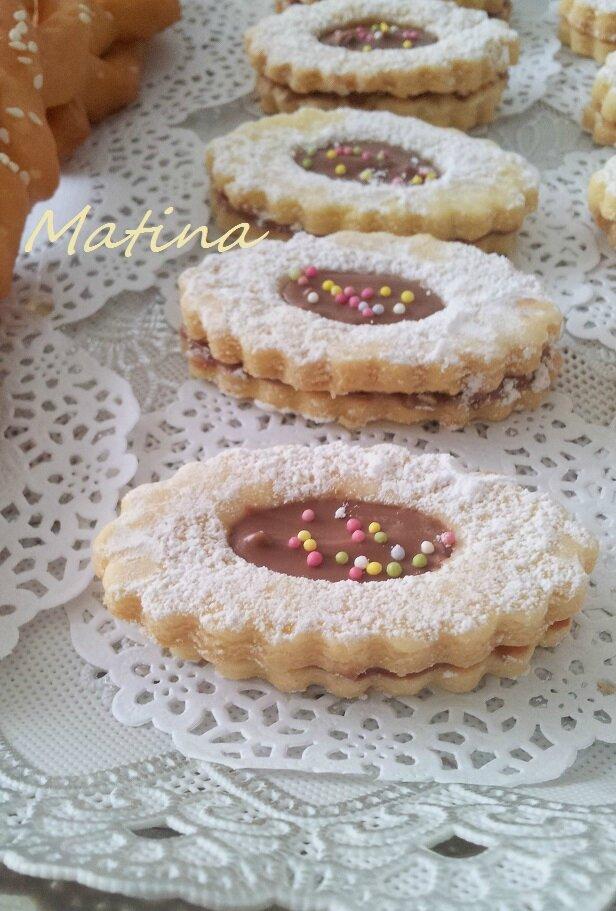 Sabl s de l 39 enfance tr s fondants la confiture ou chocolat pralin horizon culinaire - Recette sable confiture maizena ...