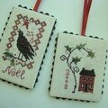 Petites pendeloques modles Blackbird Designs (ralisation d'Aline)