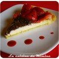 Tarte aux fraises façon cheesecake