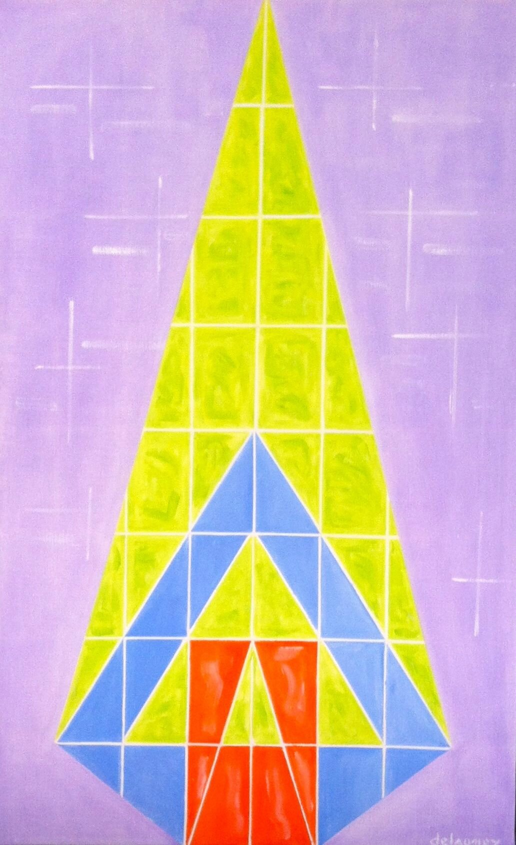"""Art construit """"VERTICALITE"""" huile sur toile 116X73 ---> fascination gratte-ciel"""