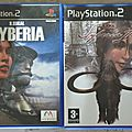 Lot jeux playstation 2 : syberia et syberia 2