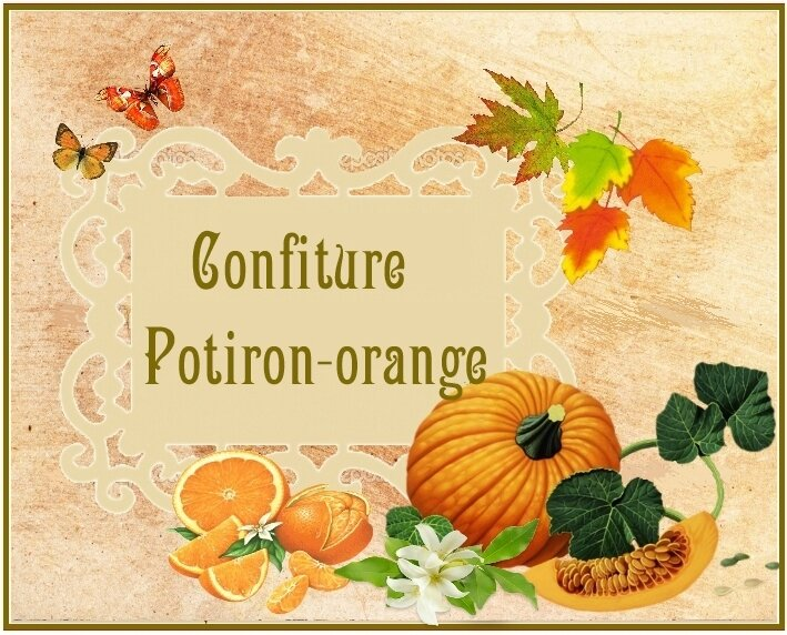 confiture potiron orange