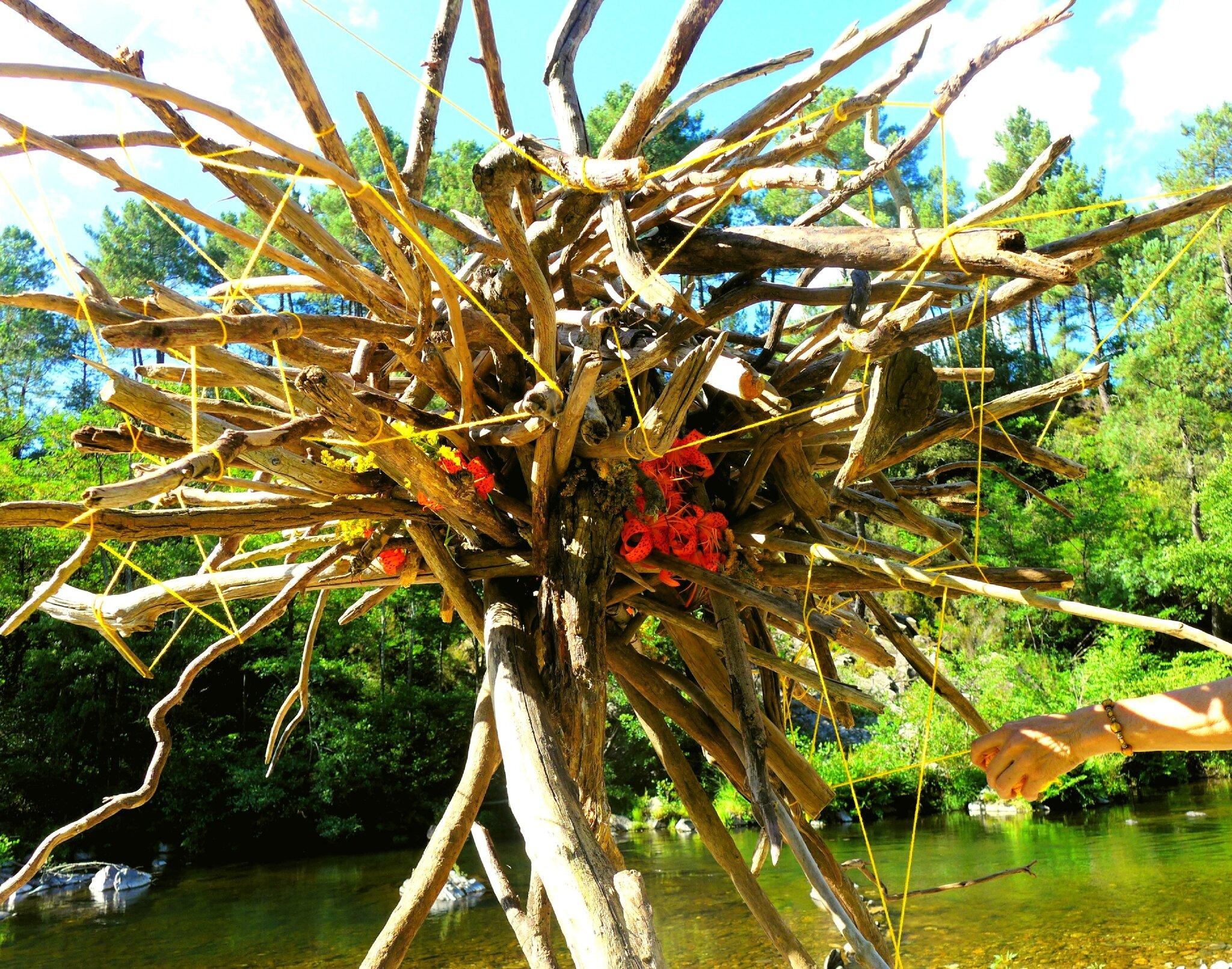 noeud de branches flottées yurtao