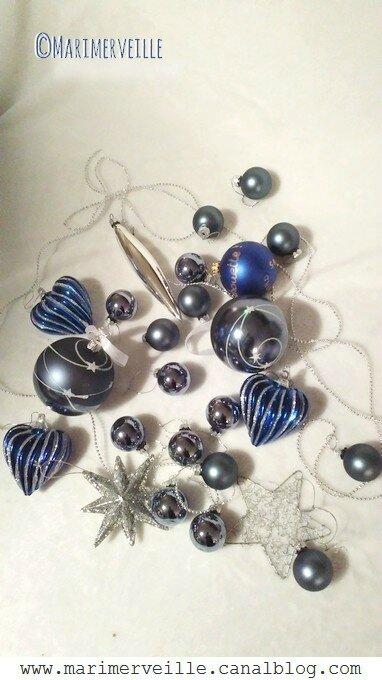 décorations de Noël céleste - bleu - marimerveille