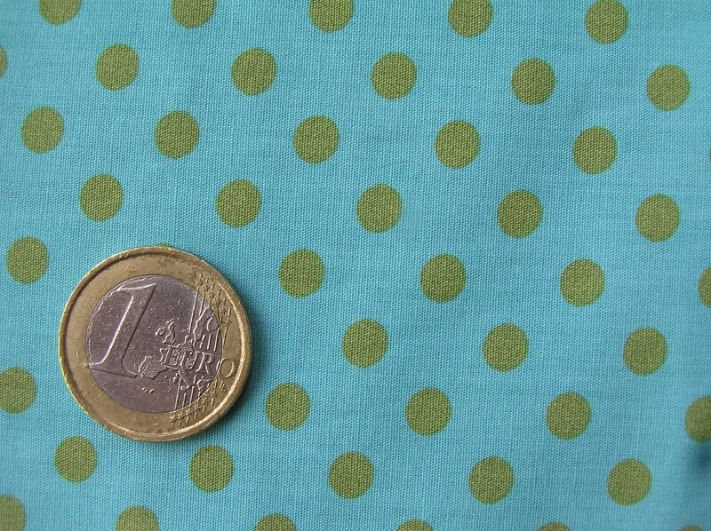 Liberty turquoise et pois verts