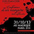 Info théâtre/halloween : monologue ''confessions d'un vampire sud-africain'', paris 31/10/2013