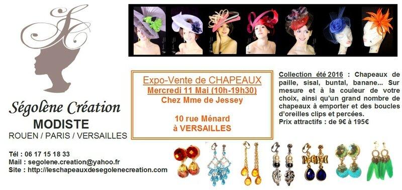 2016-05-11 Expo de CHAPEAUX Versailles Mme de Jessey