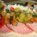 Wrap courgette poivron bacon