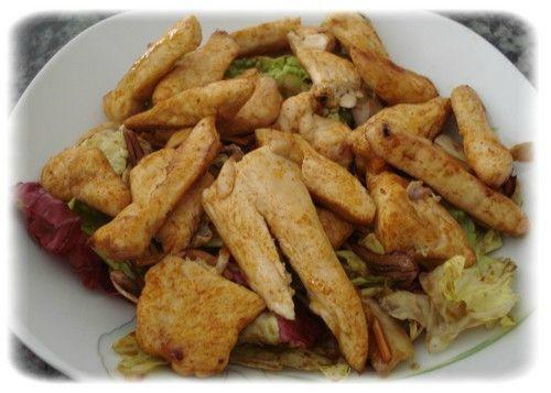 Salade poulet grillé