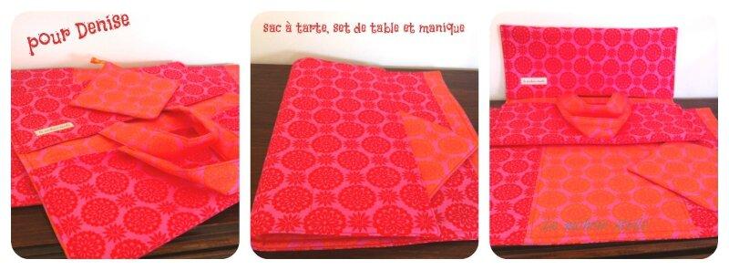 Le nichoir étoilé sac à tarte, set de table et manique