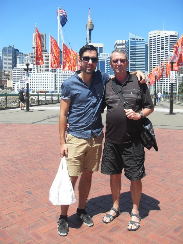 Sur le pont de Darling Harbour
