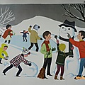 Collection ... affiches scolaires nathan 1966 * scenes d'hiver