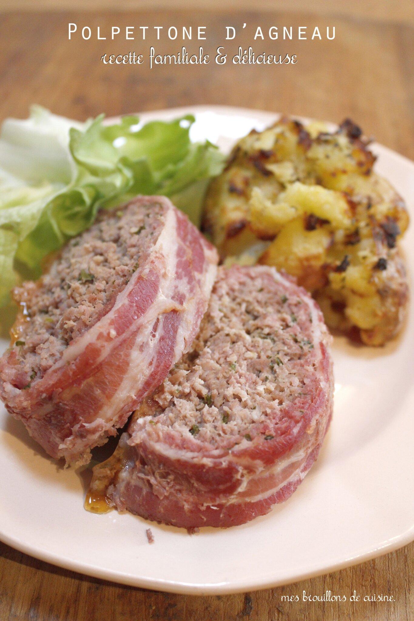 Pain de viande d agneau d edda polpettone mes for Viande cuisinee