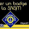 Broder un badge pour les sauveteurs en mer.