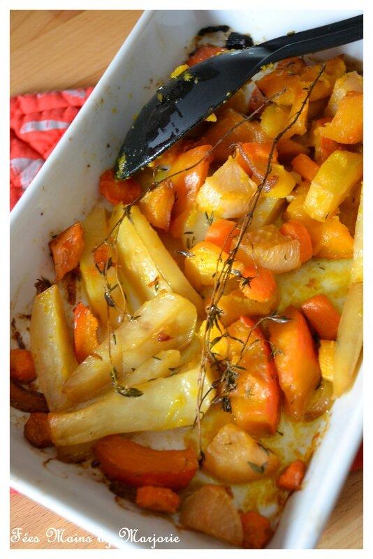 Légumes d'automne rôtis au thym