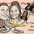 Faire-part caricature - mariage pirates