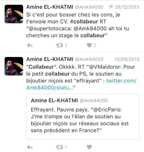 AmineElKhatmiCollabeurTweets