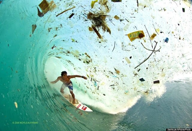 surfing trash