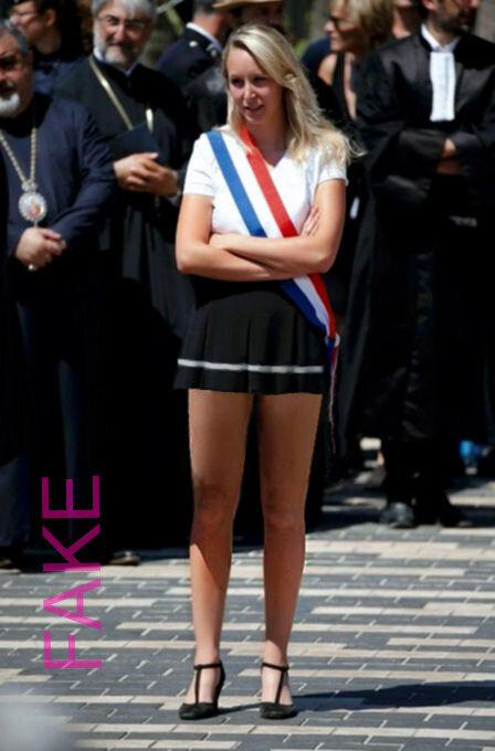 Marion Maréchal-Le Pen, mini-jupe