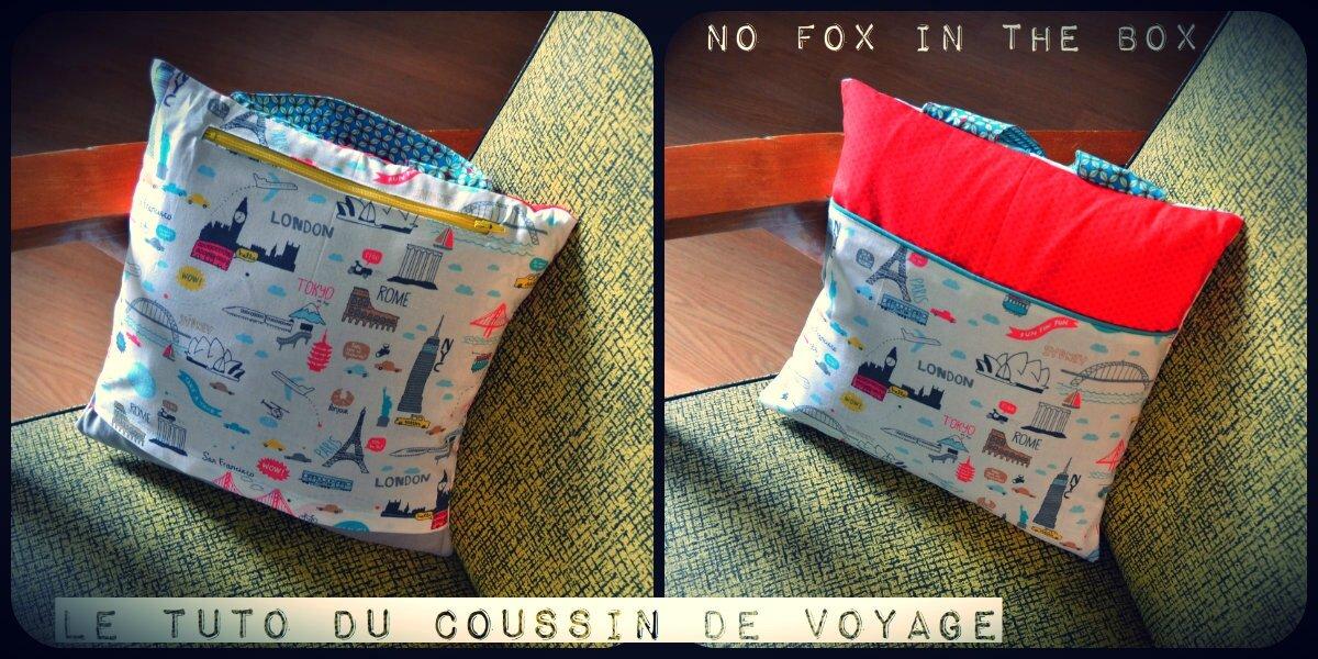Coussin de voyage le tuto no fox in the box for Housse de coussin tuto