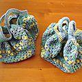 Deux petits sacs boule