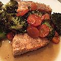 Saumon aux légumes soja et sésame