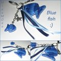 Bij de sac Blue fish mosaique