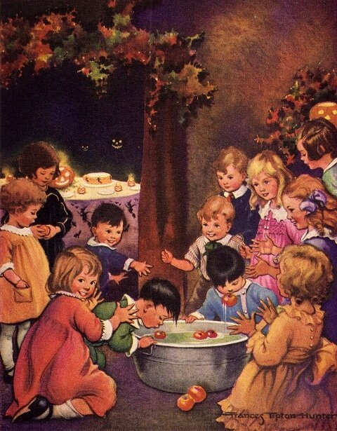 Frances Tipton Hunter - bobbing-for-apples