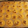 Tartelettes bananes-roquefort