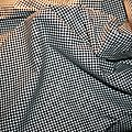 mini vichy noir et blanc coton elasthane