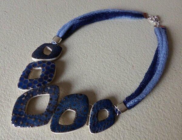 SOLY CAT-COLLIER CERAMIQUE VIEILLIE DENIM