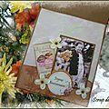 Carte d'anniversaire pour Monique - Intérieur - Mars 2012