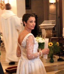 Robe mariée église profil