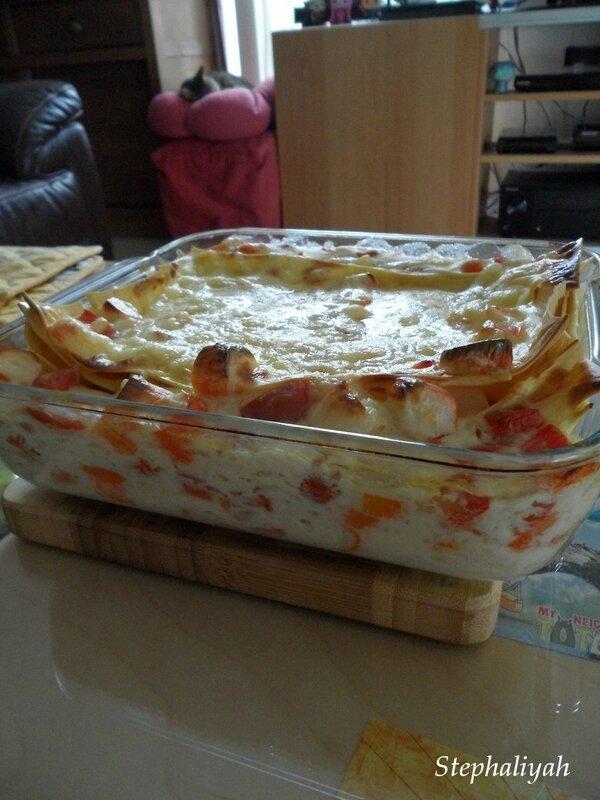 Lasagnes surimi poivron rouge - 2