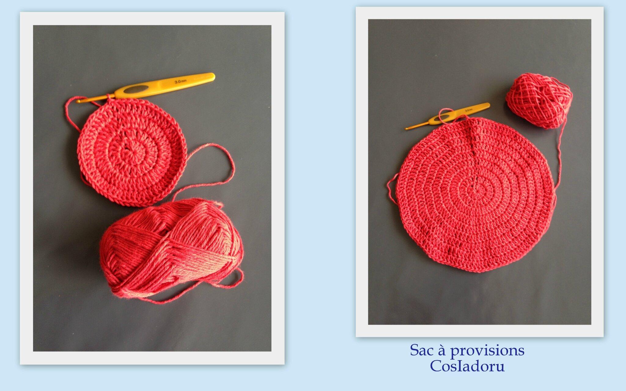 Sac filet provisions au crochet cosiadoru - Tuto pour creer un sac en crochet ...