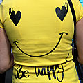 Coeur, tee-shirt, Be Happy_7498