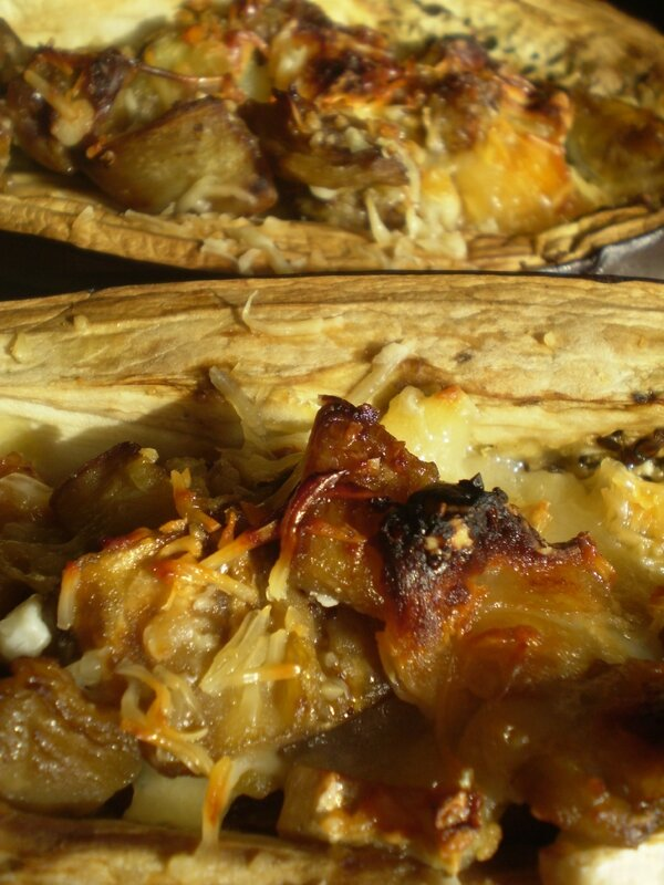 Aubergine farcies aux fromage