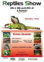 Affiche reptiles show Auneau