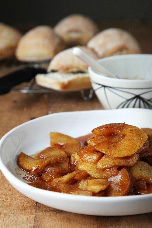 Poêlée de pommes et réduction aux épices