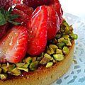 Tarte au fraises et pistaches2