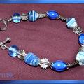 Bracelet bleu et argent (N)