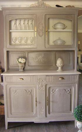 Vaisselier patine - Transformation de meubles anciens ...