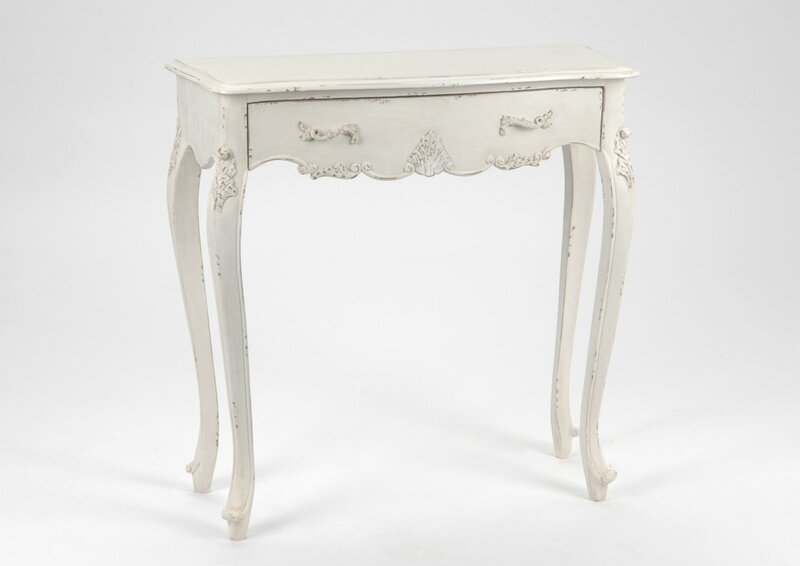 console blanche shabby chic